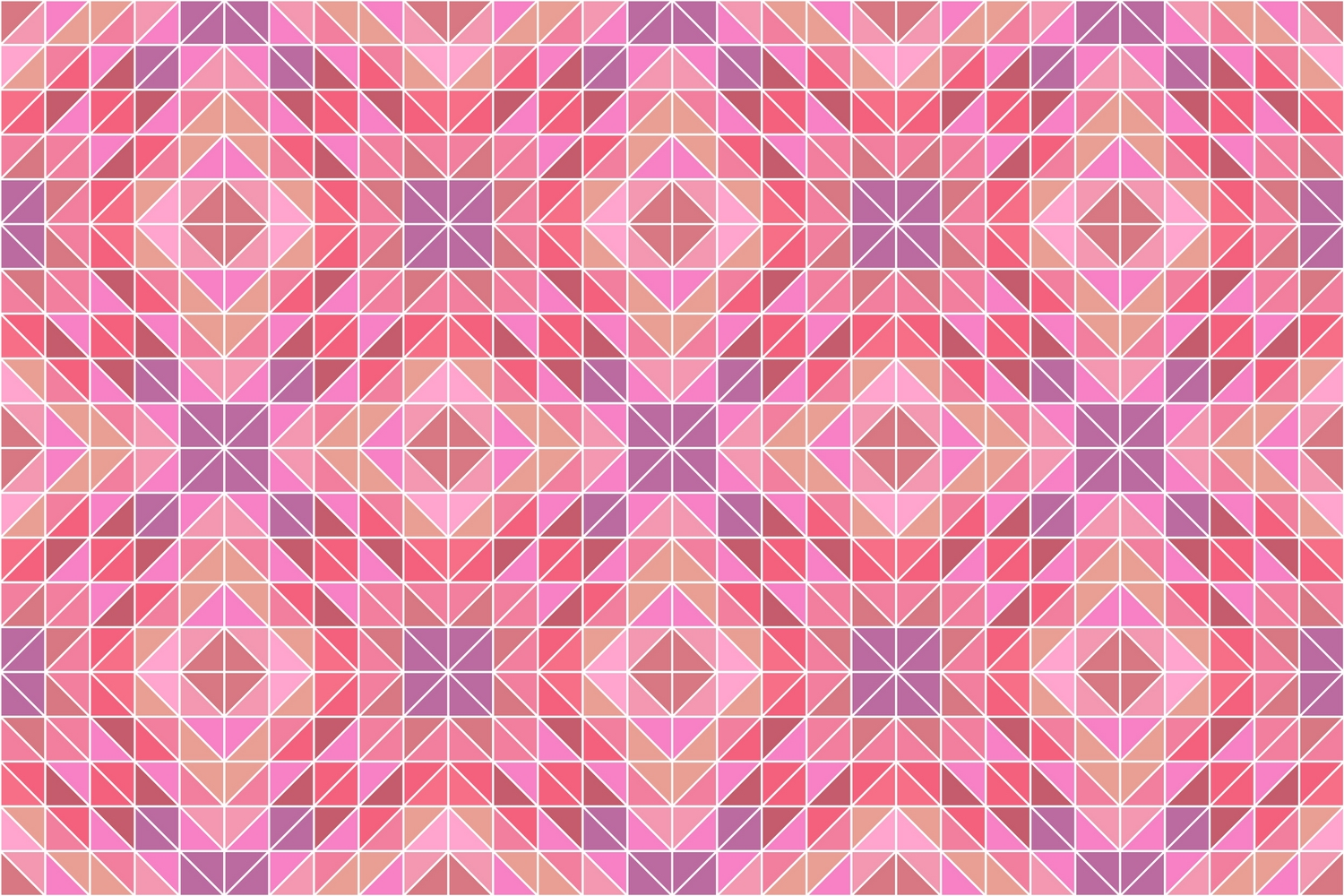 108 colorful seamless kaleidoscope triangle patterns (AI, EPS, JPG 5000x5000) example image 3