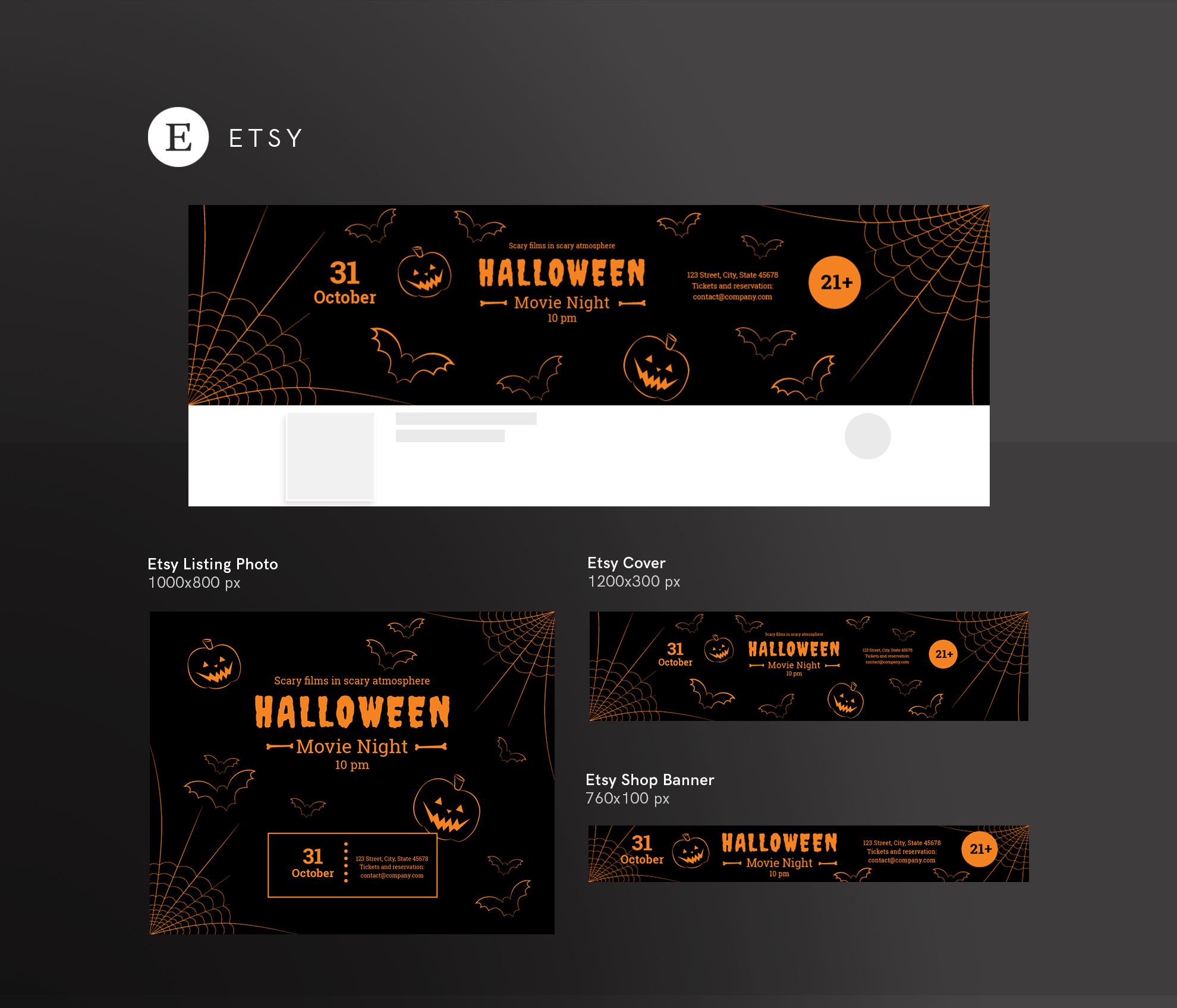 Halloween Movie Night Design Templates Bundle example image 14
