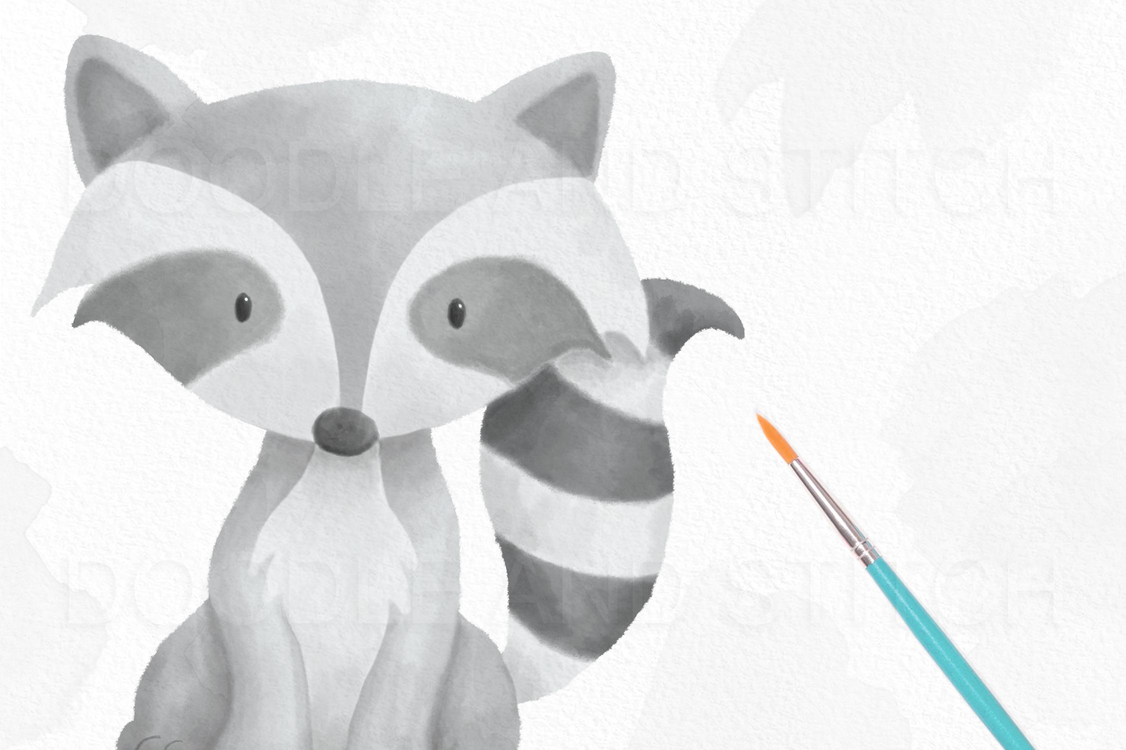 Watercolor Woodland Animal Designs example image 3