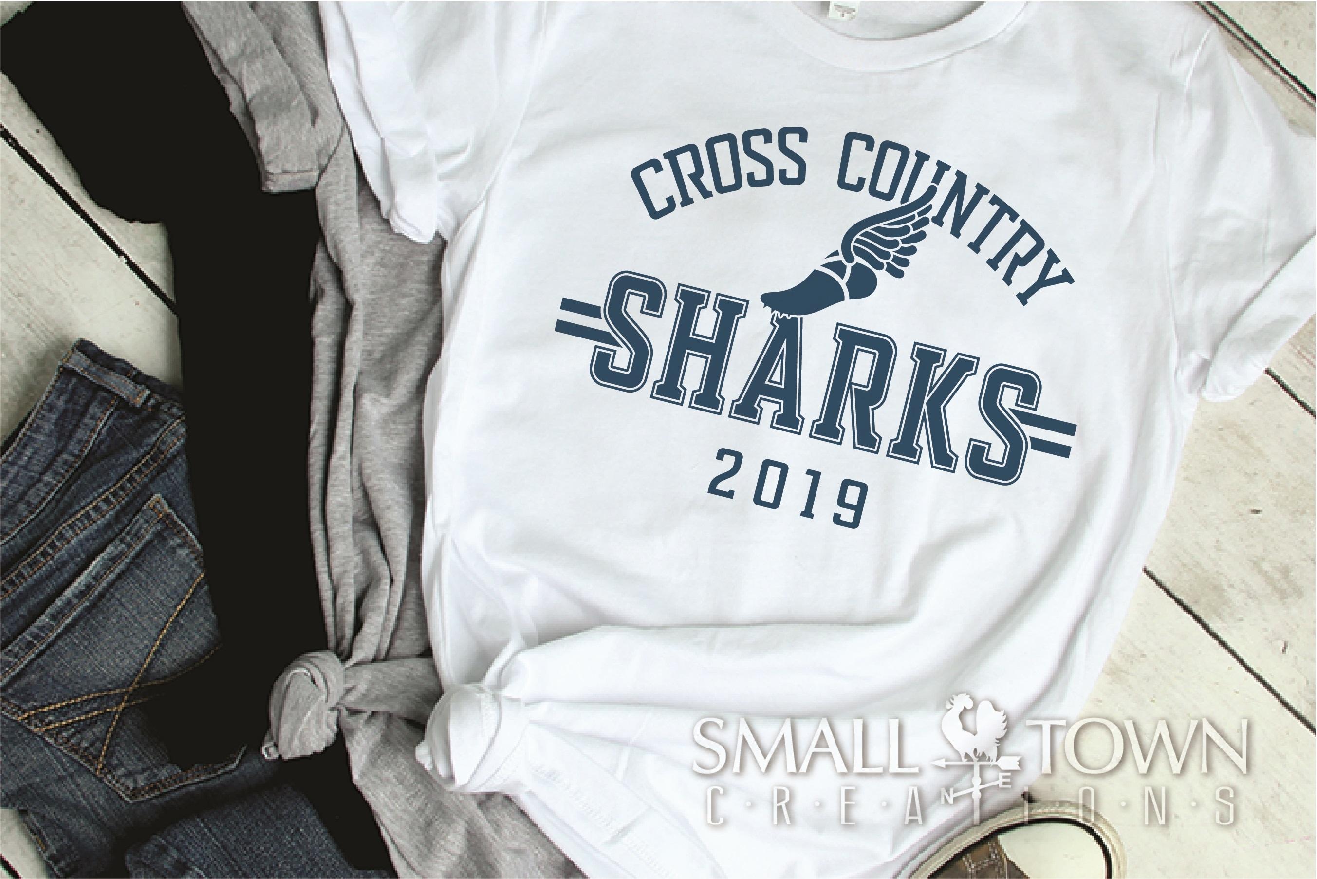 Sharks Cross Country, Shark mascot, PRINT, CUT, DESIGN example image 2