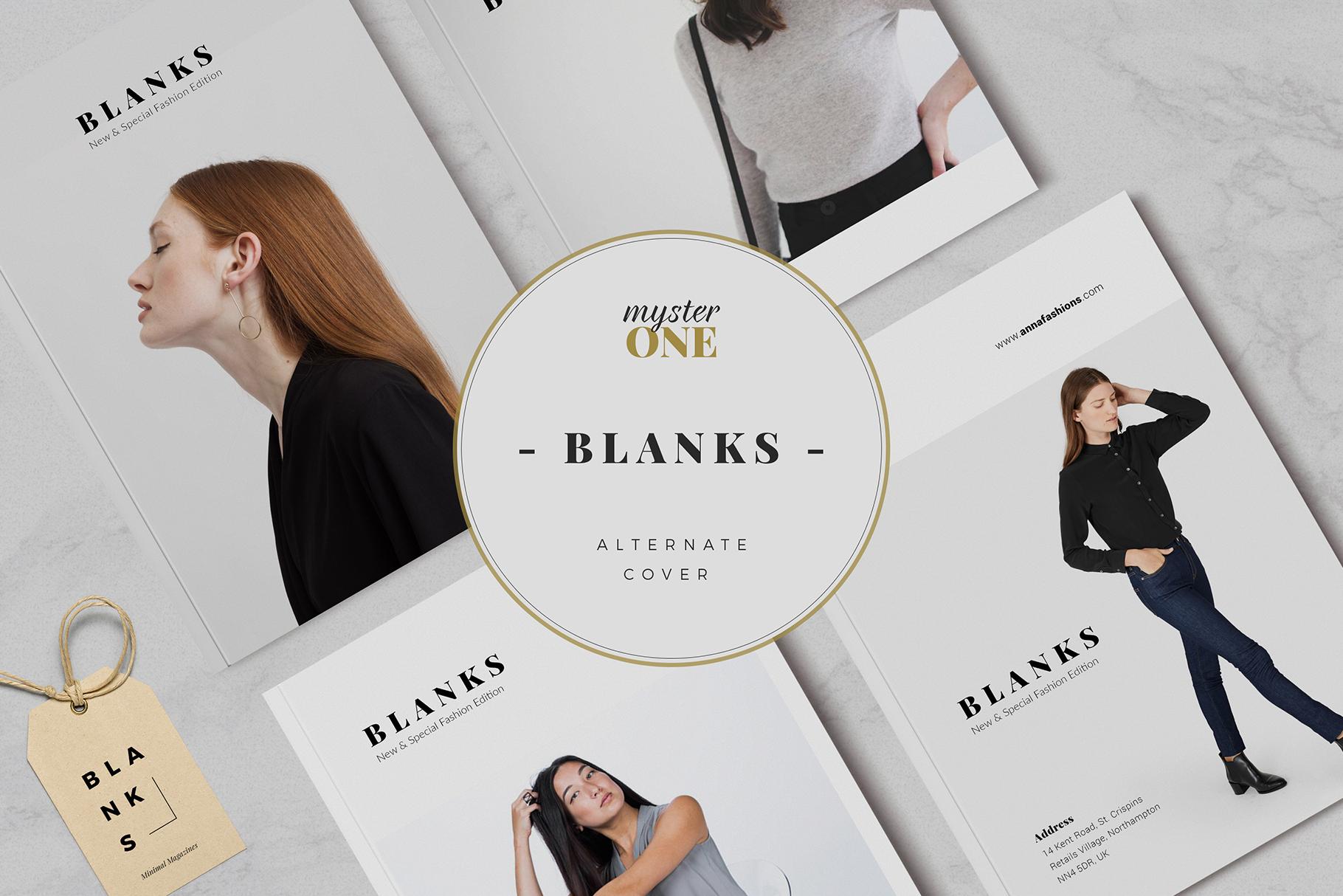 BLANKS   Minimal Lookbook/Magazines example image 3