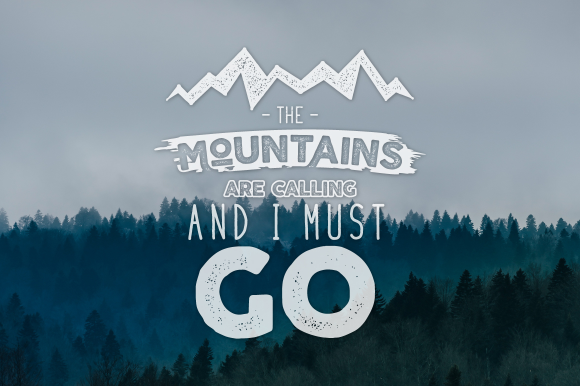 Mountain Shapes & Tee Design Vol.3 example image 3