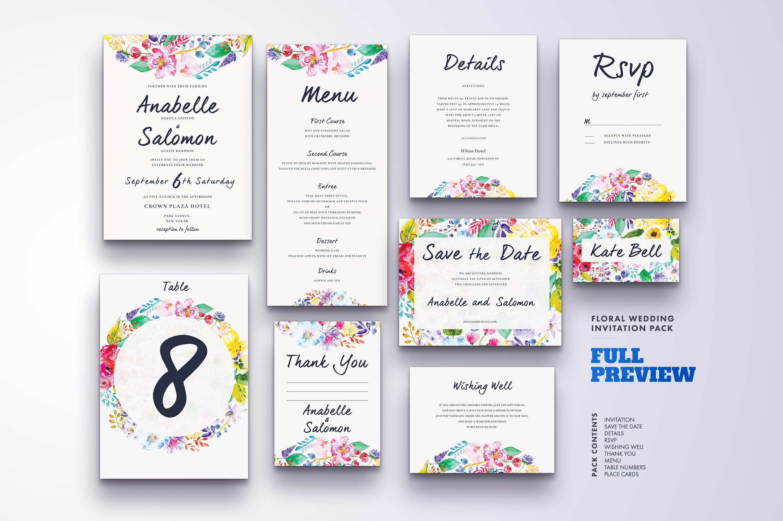 Flower Wedding Invitation Suite Vol.4 / Save Date / Bride example image 2