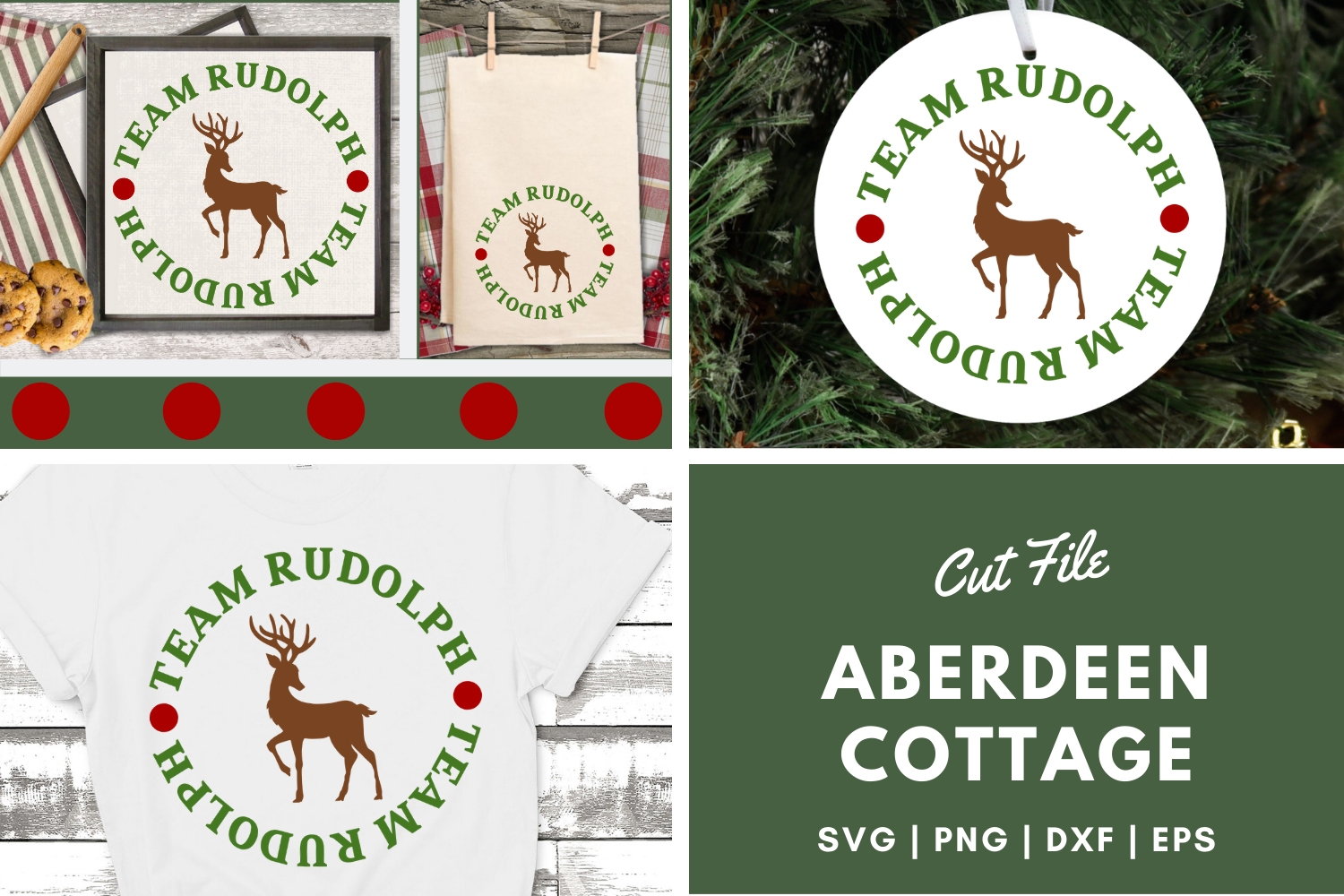 Team Rudolph - Christmas SVG | PNG | DXF | EPS example image 1