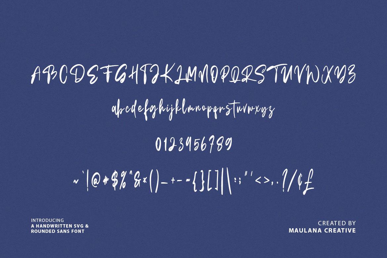 Bellarush SVG Brush Font Free Sans example image 9