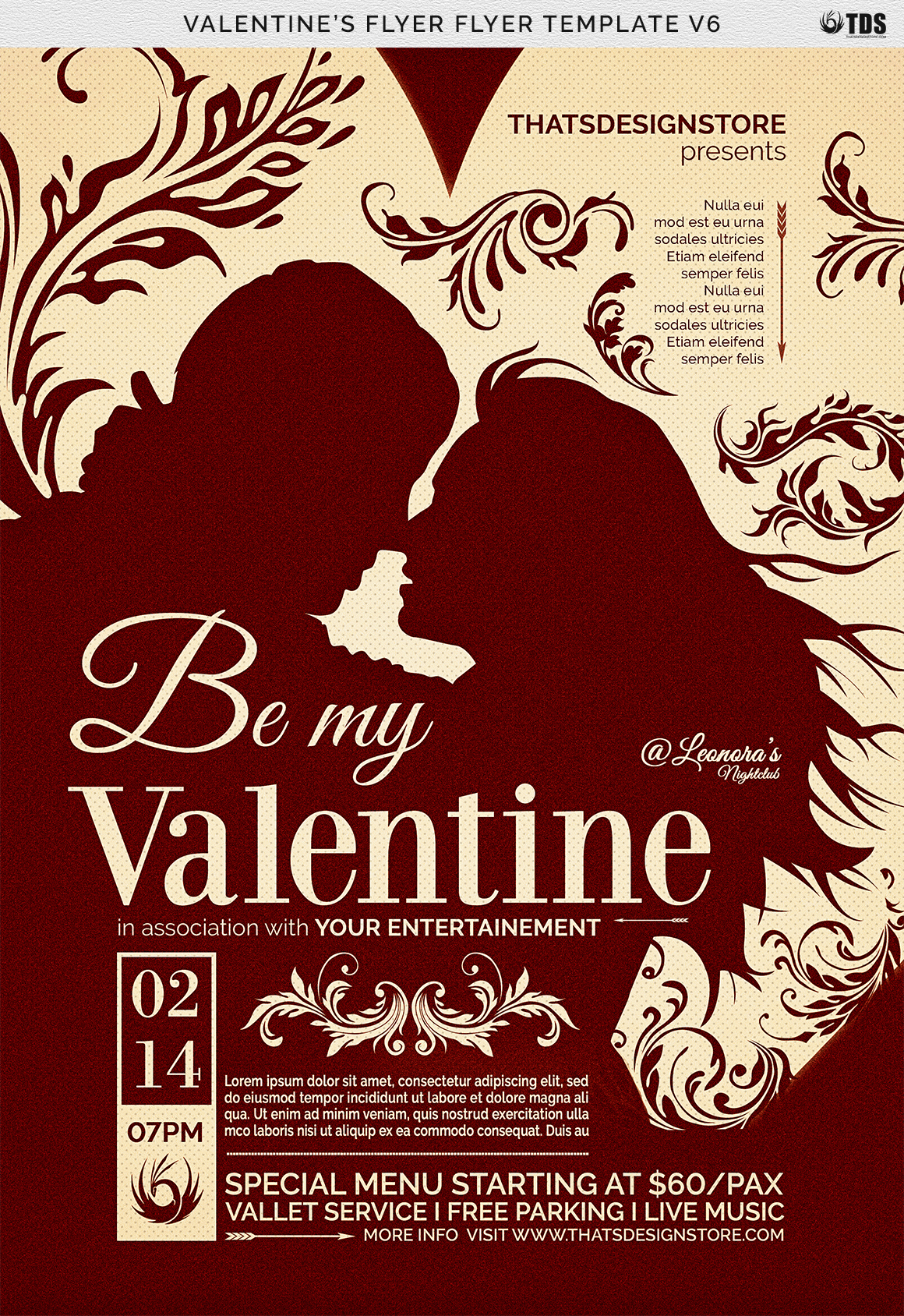 Valentines Day Flyer Template V6 example image 7