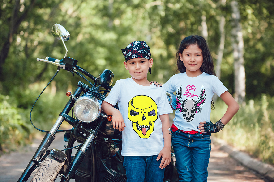 Little Bikers T-Shirt Mock-Up example image 3
