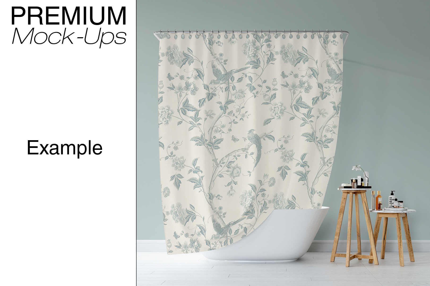 Bath Curtain Mockup Pack example image 12