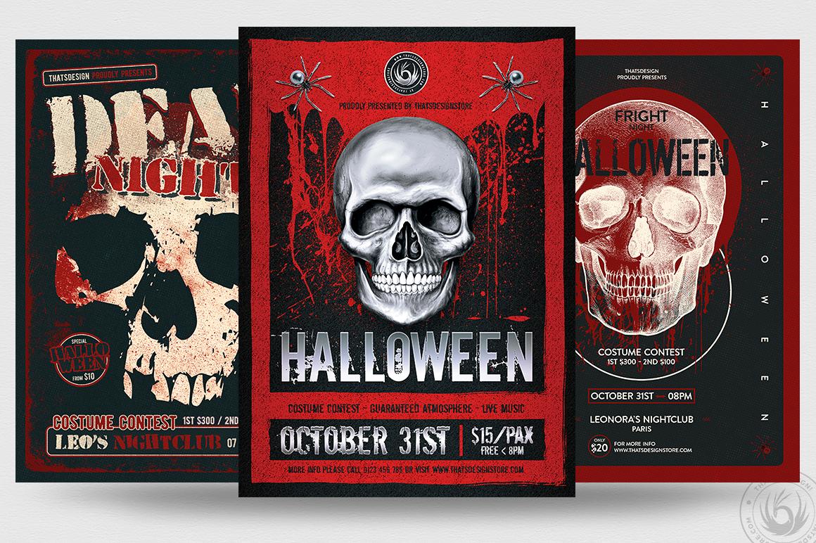 Halloween Flyer Bundle V8 example image 1