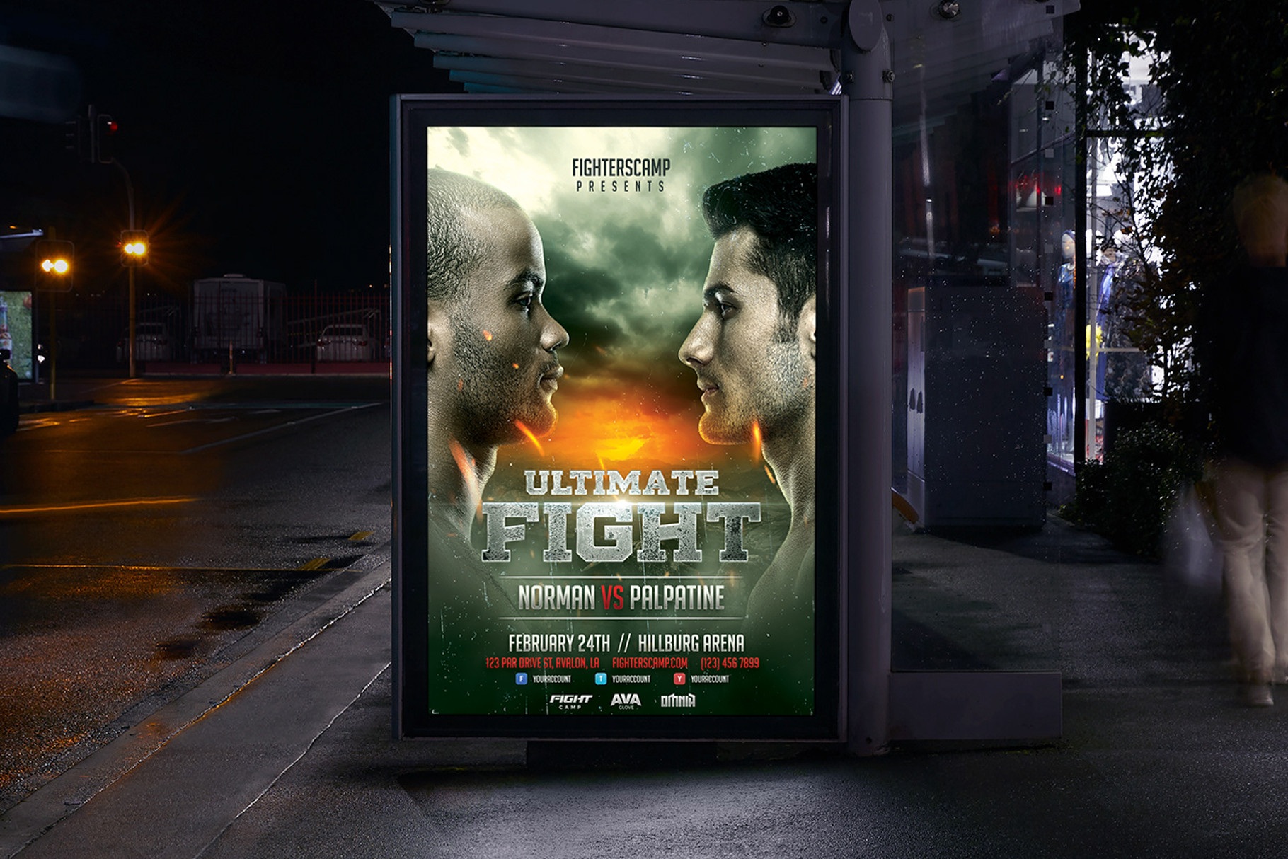Boxing MMA Poster Template example image 3