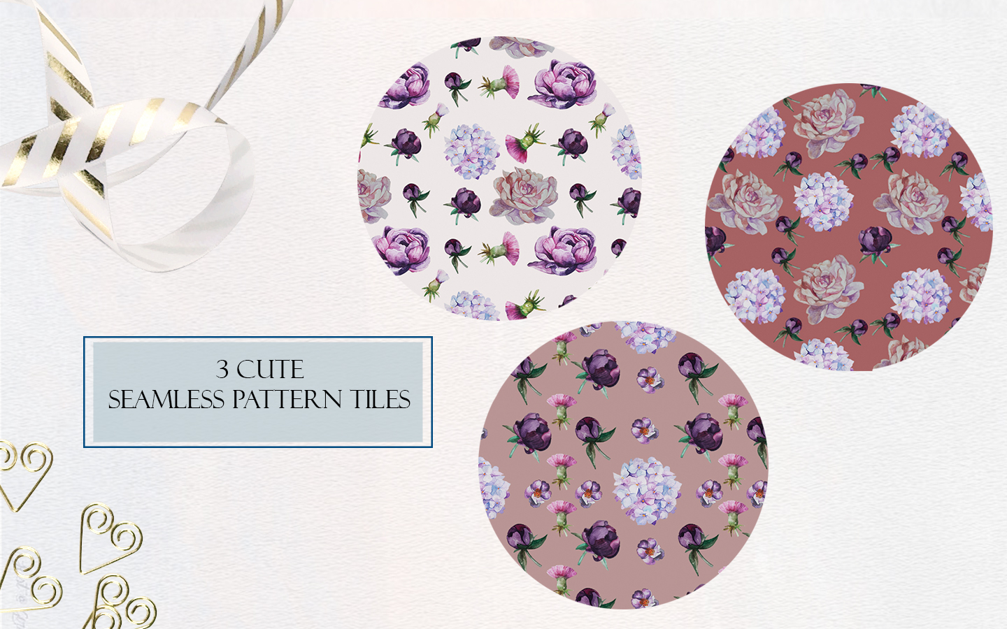 Romantic Peonies Hand Painted Clip Art Set example image 8