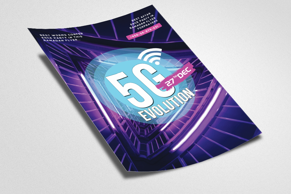 5G Evolution Flyer Template example image 2
