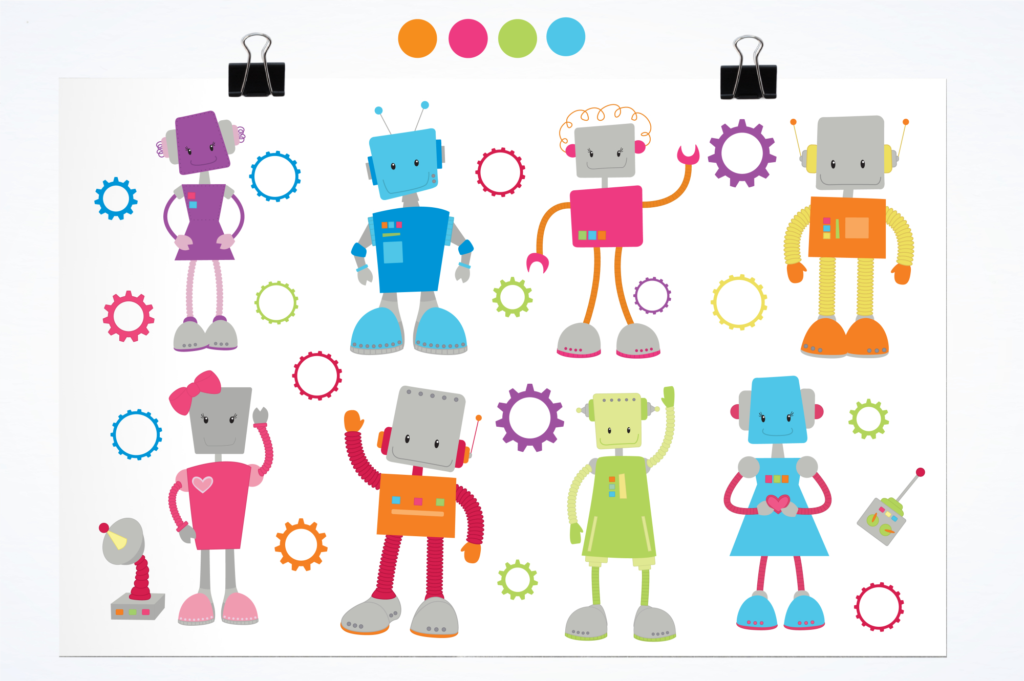 Mr. & Mrs. Roboto graphics and illustrations example image 2