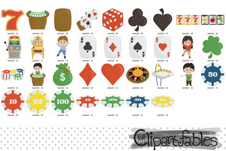 Cute CASINO clipart, Gambling Clip art, Poker - Digital art example image 2