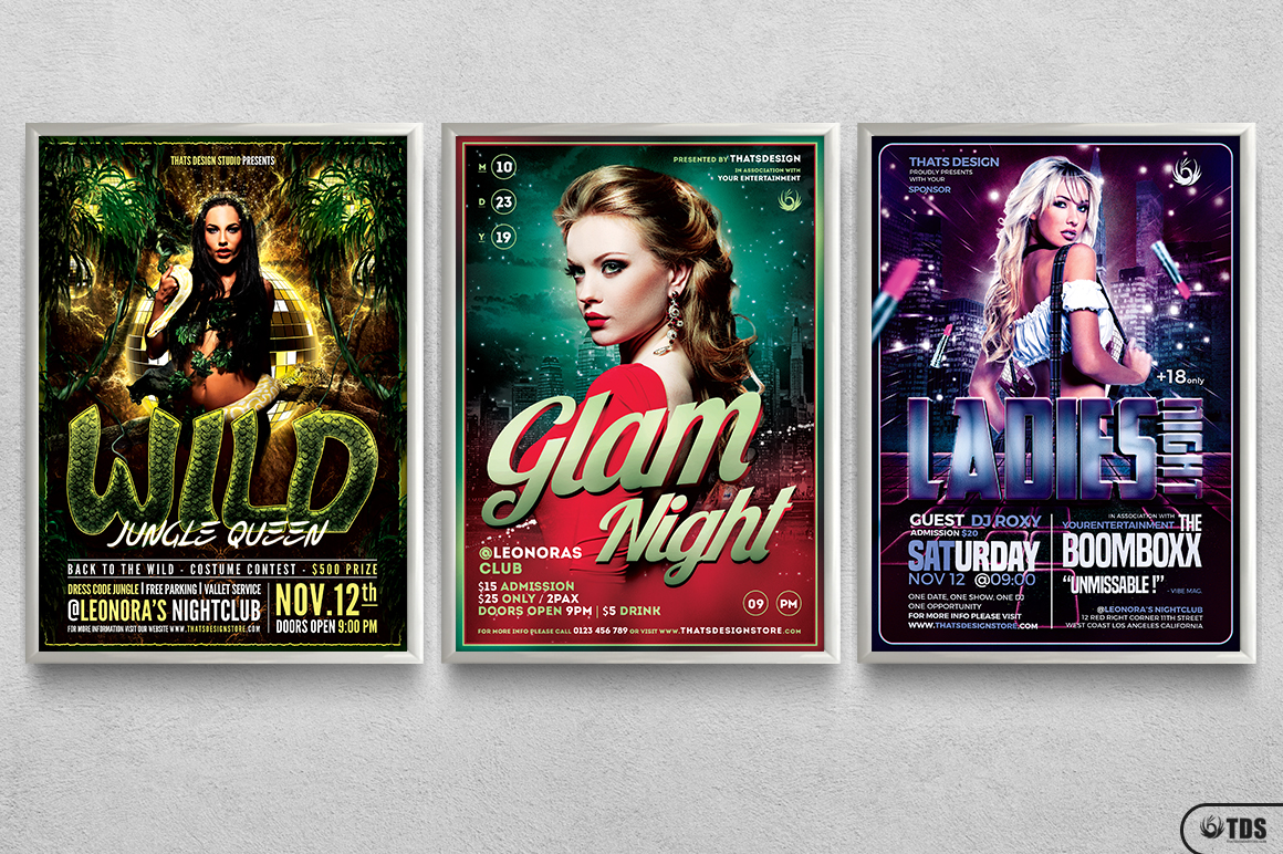 Ladies Night Flyer Bundle V2 example image 11