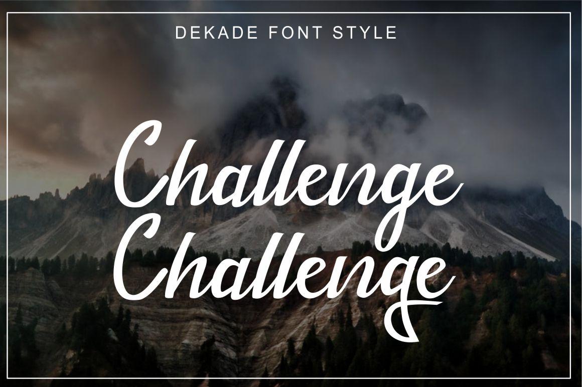 Dekade Brush Font + Swash example image 7
