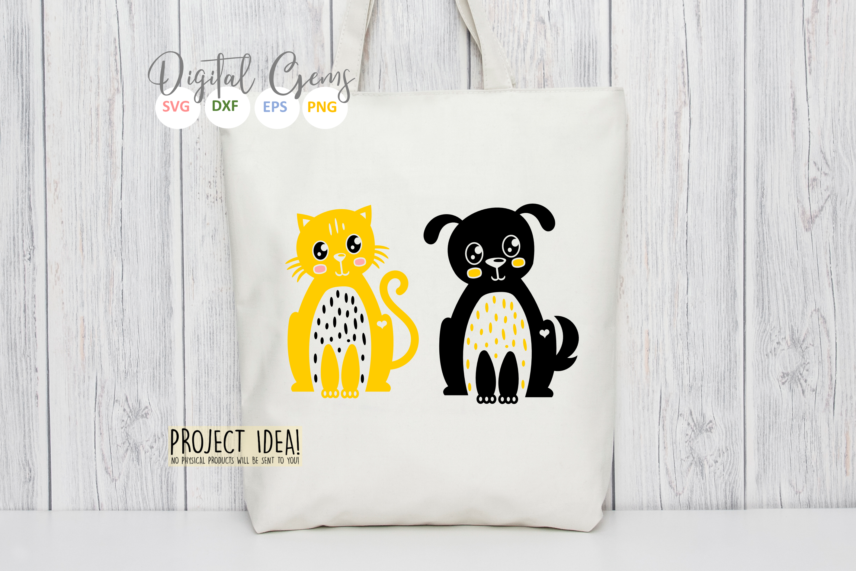 Cat and Dog SVG / EPS / DXF / PNG Files example image 7