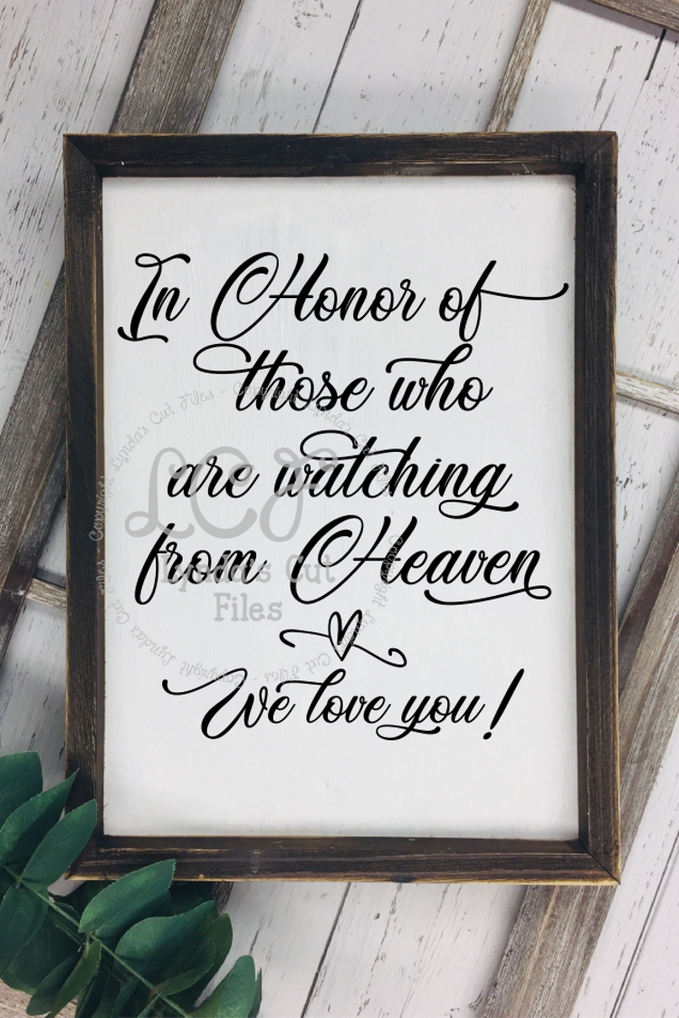 In Honor of those who are watching from Heaven//SVG/EPS/DXF example image 2