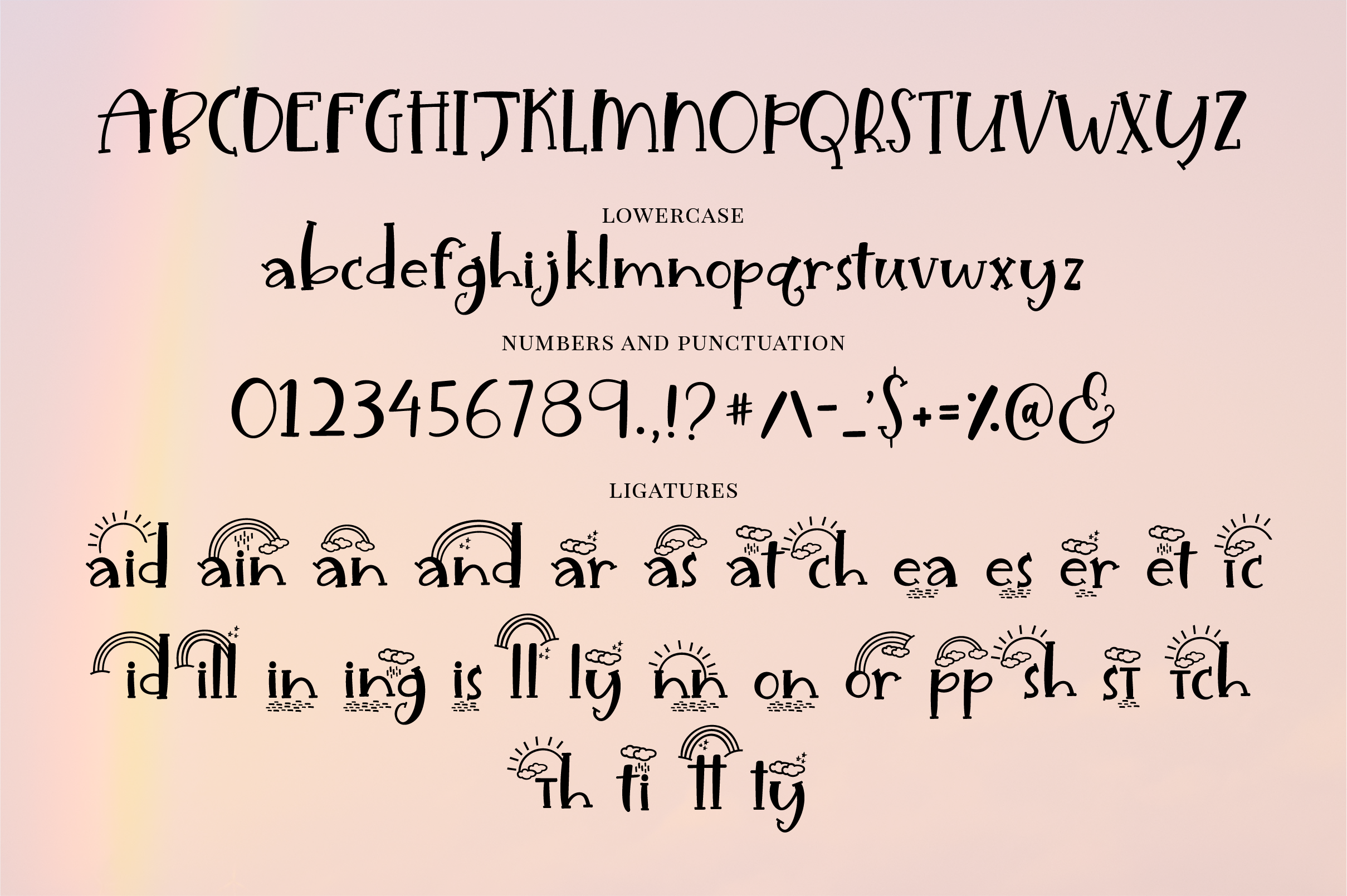 Unicorn Island Font and Dingbats example image 7