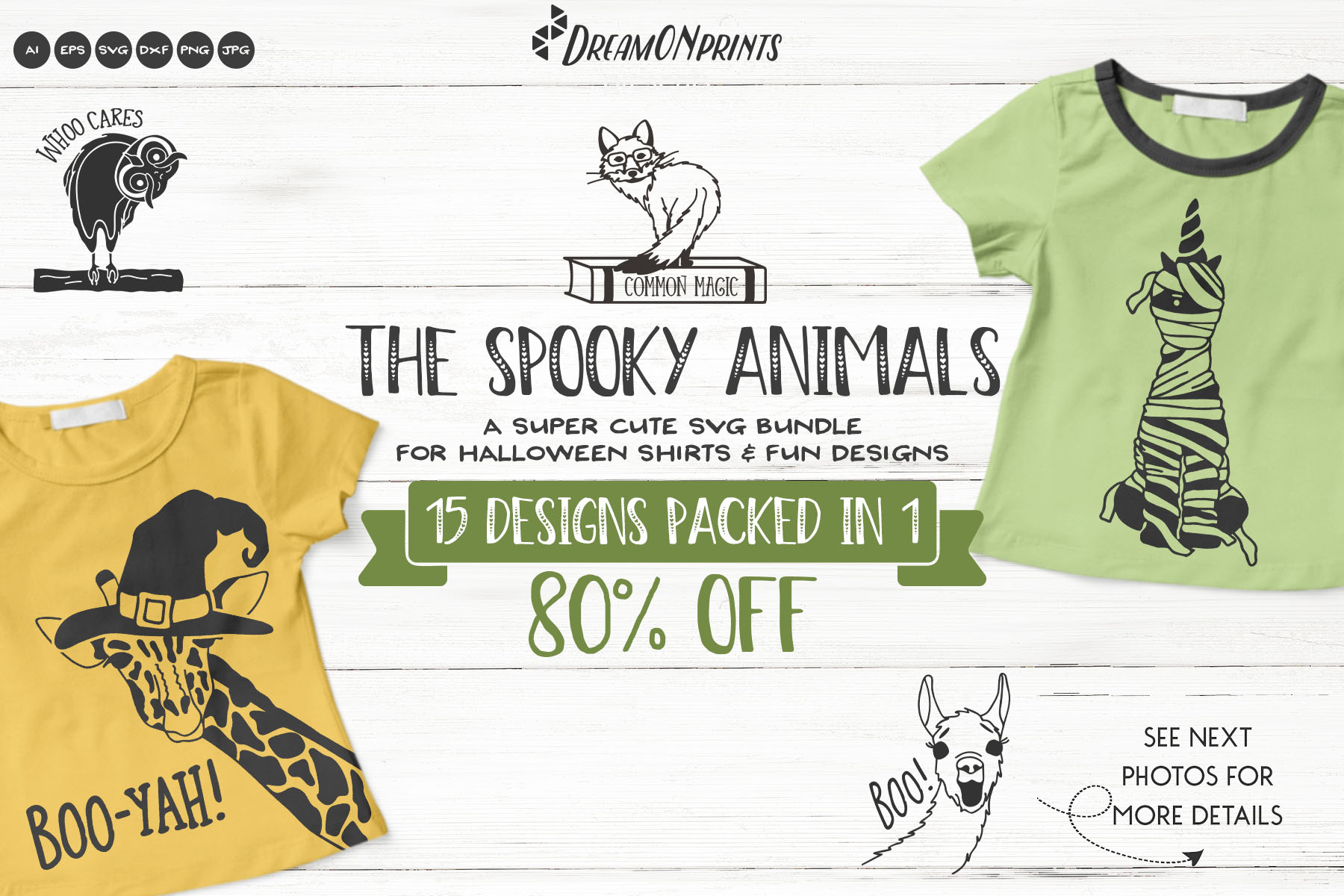 The Spooky Animals | Funny Halloween SVG Bundle example image 1