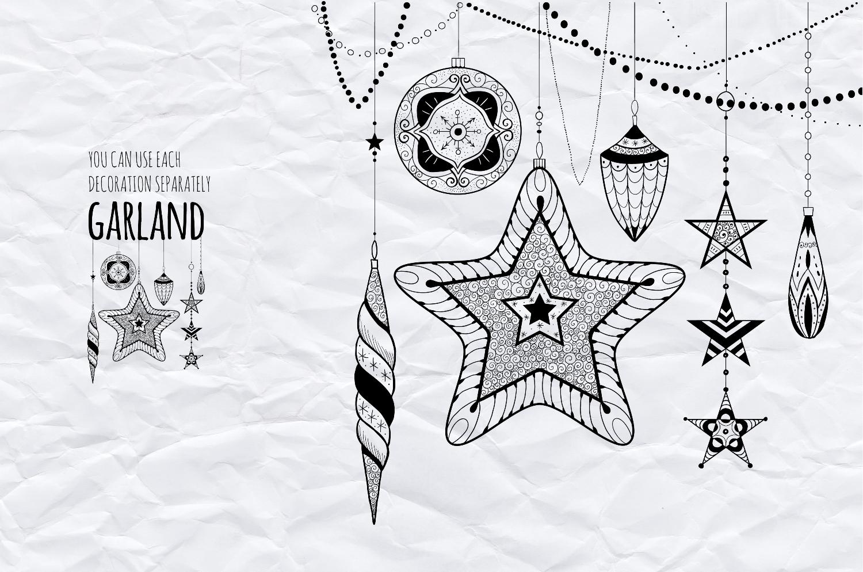Christmas garland set vol.3 example image 2