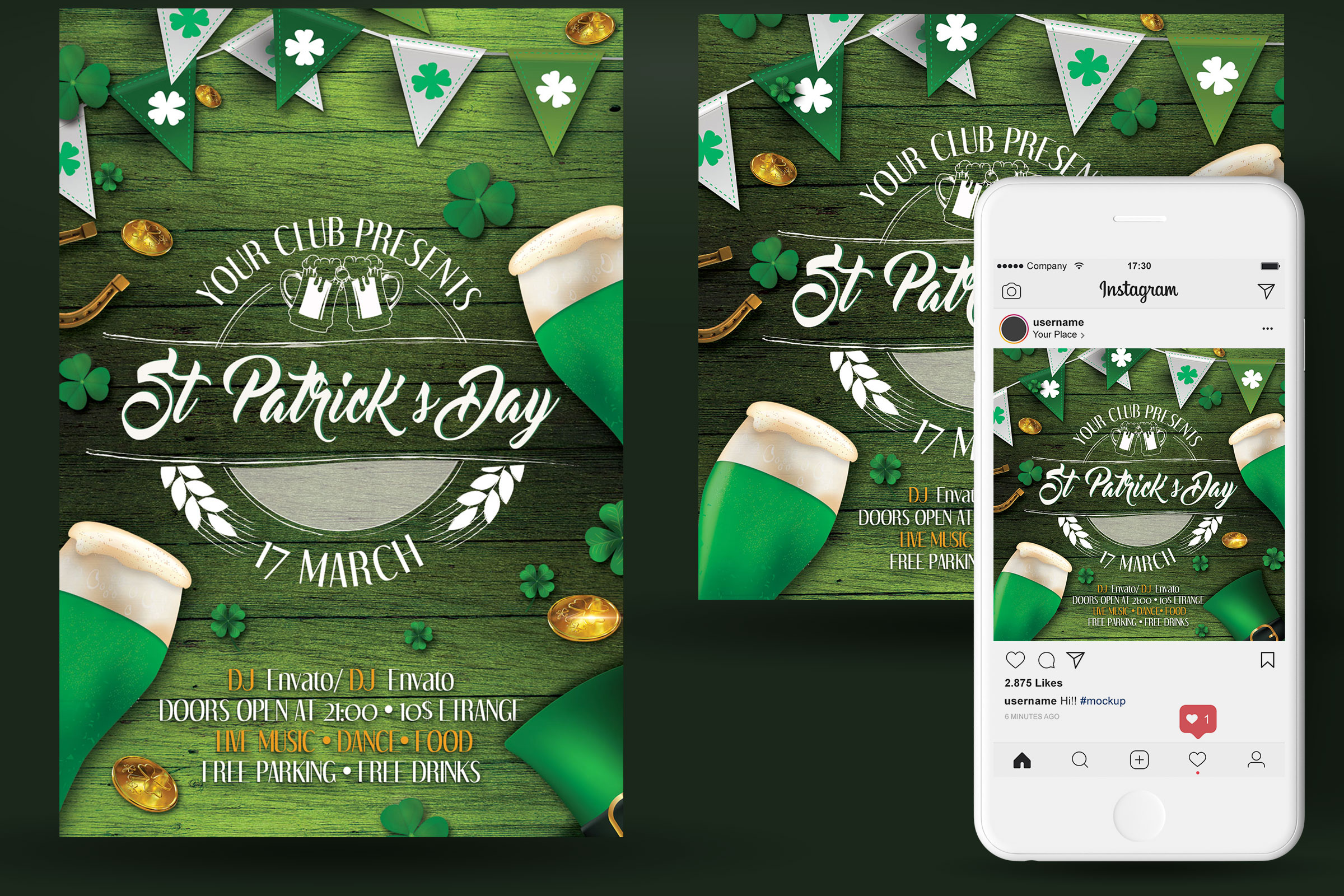 St. Patrick's Day Flyer And Poster example image 2