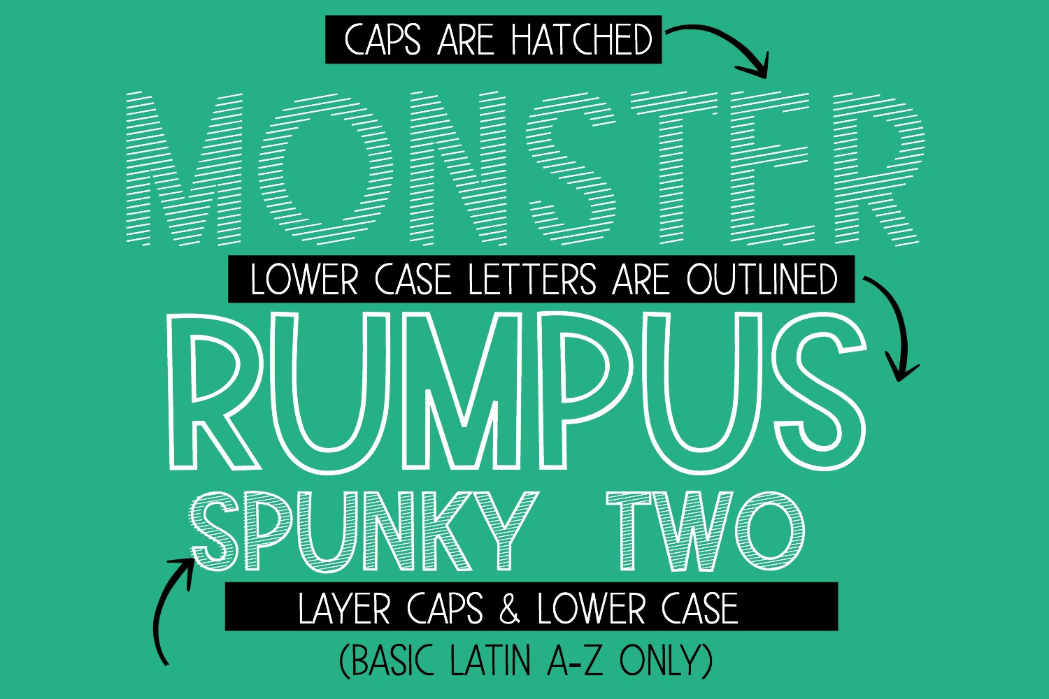 Monster Rumpus Font Family example image 5