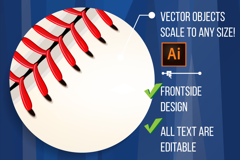 Baseball Poster Vector example image 2