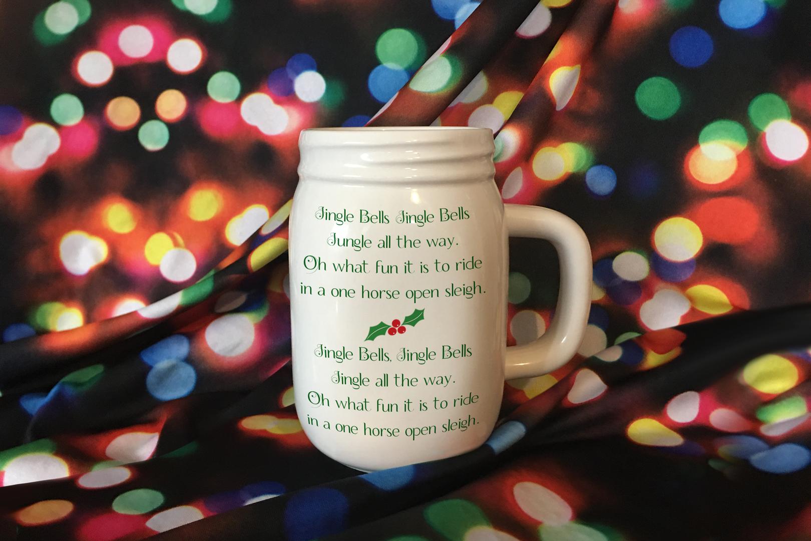 Mason Jar Mug Christmas Mockup, PSD Smart Object & JPG example image 5