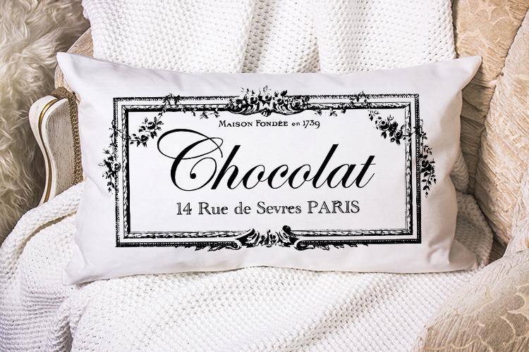 Antique French Paris printable furniture pillow sublimation example image 2