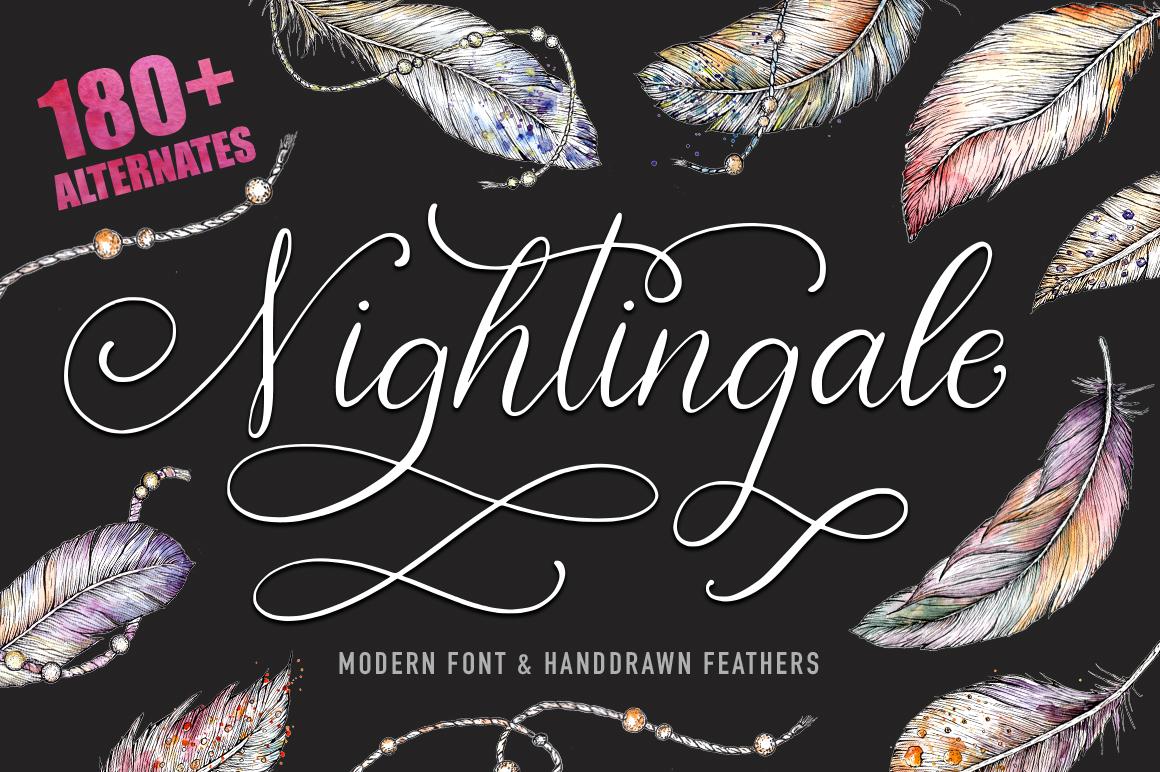 Nightingale script & bonus clip arts. example image 1
