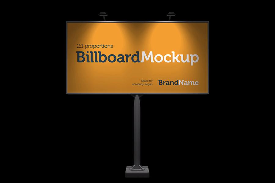 Billboard Mock-Ups. Day & night view example image 4