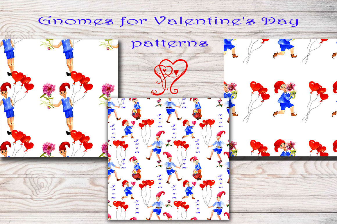Clipart gnomes for Valentine's Day example image 3