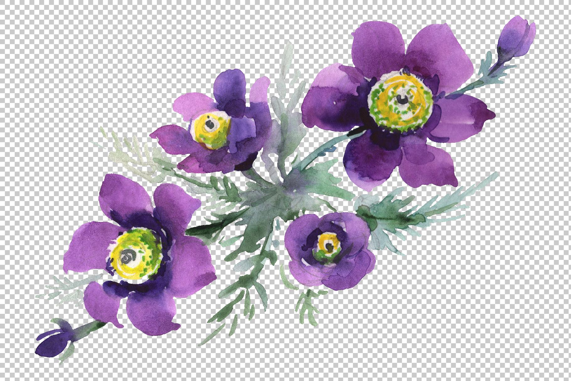 Bouquet April sun Watercolor png example image 3