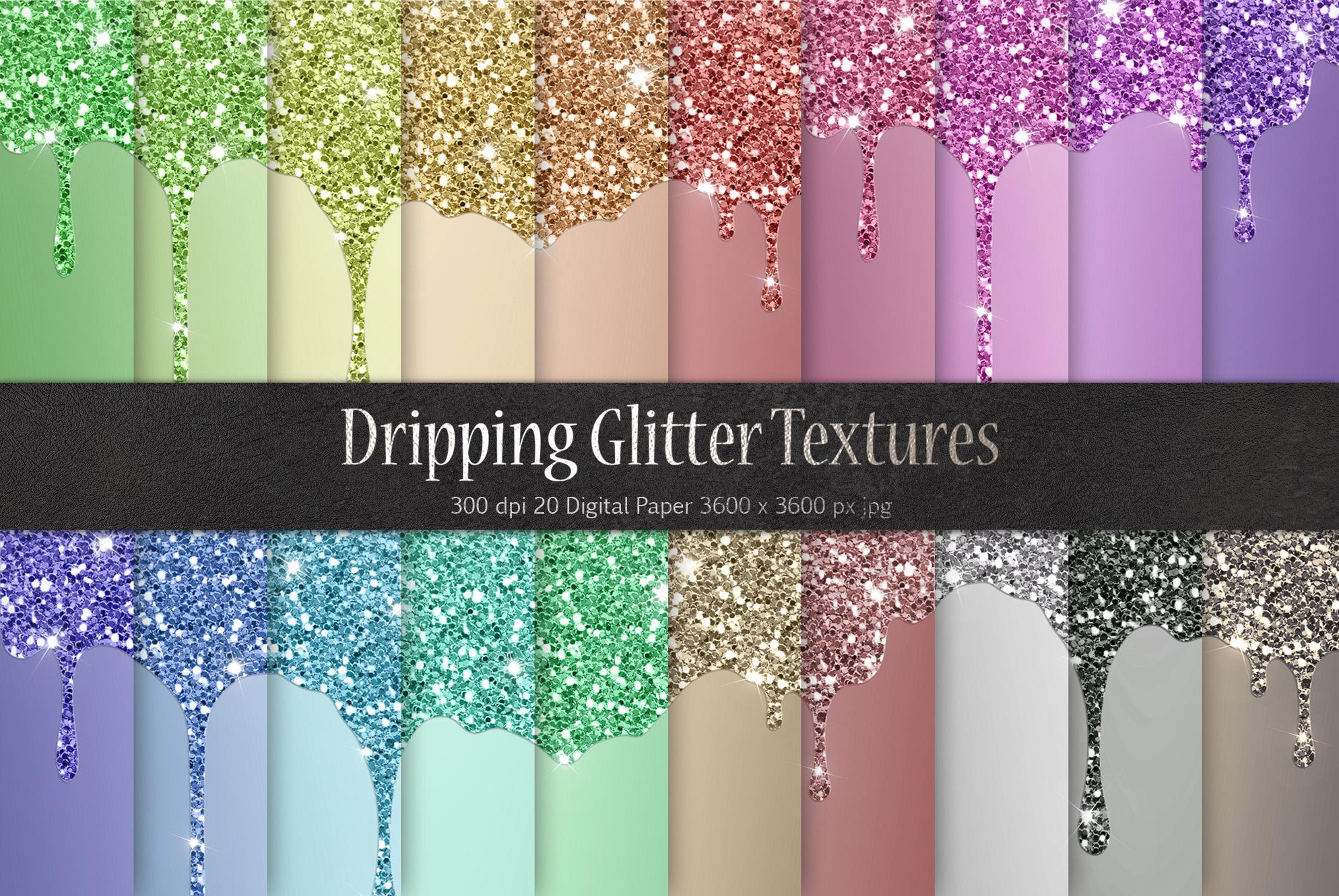 Dripping Glitter Metallic Textures example image 1