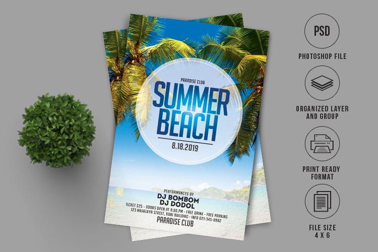 Summer Beach Flyer example image 1
