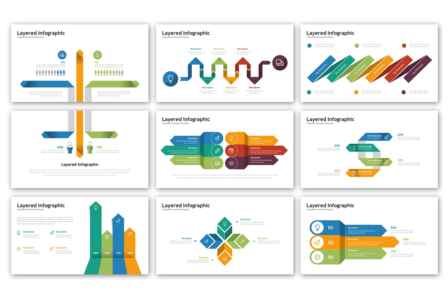Layered Presentation - Infographic Template example image 3