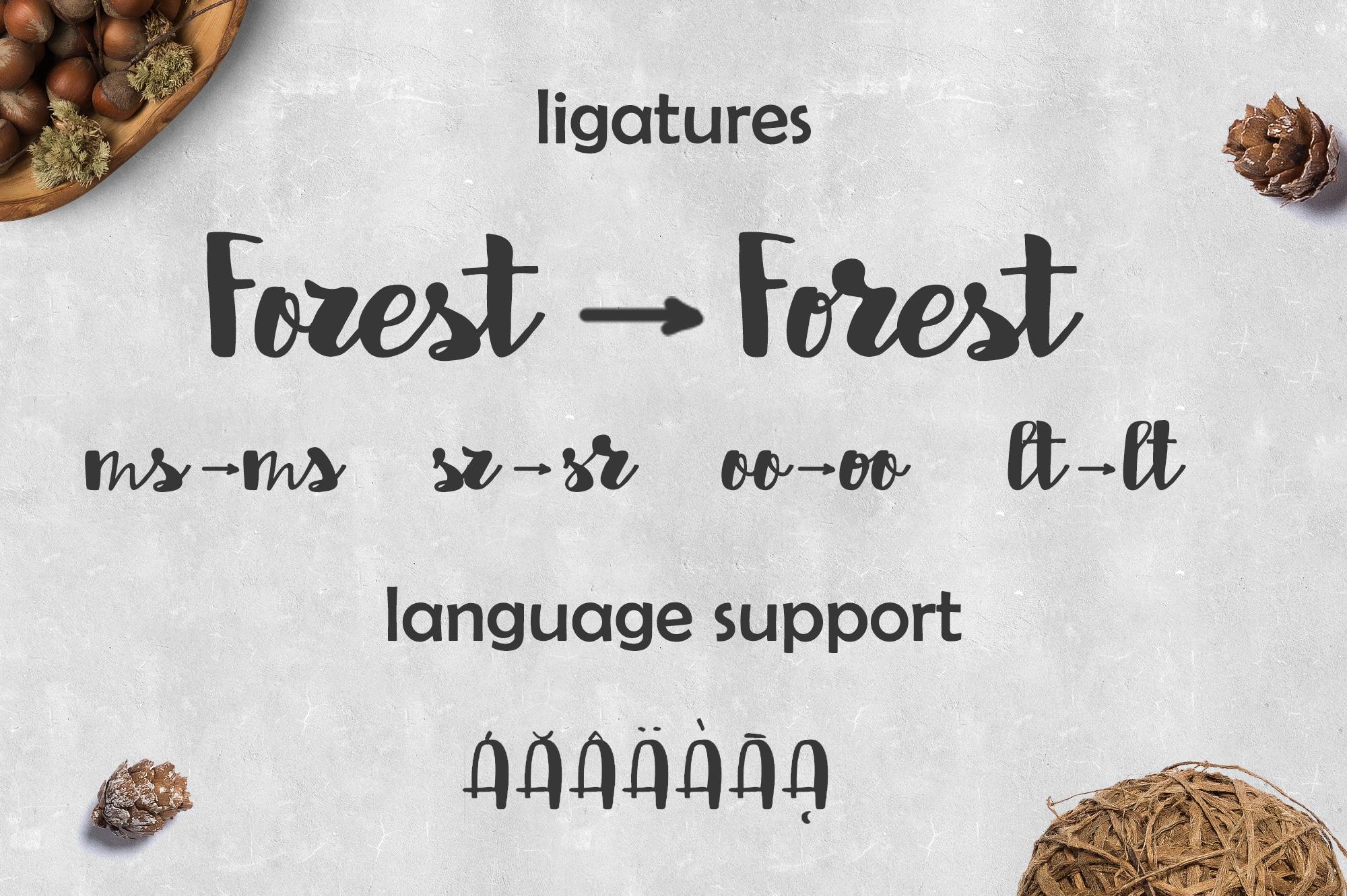 Abermad - brush font example image 7