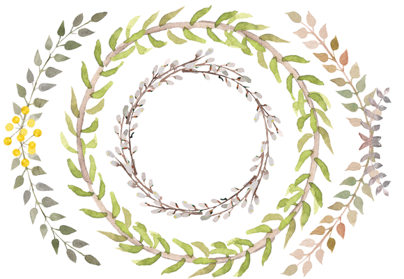 Watercolor Spring Branches Clip Art example image 2