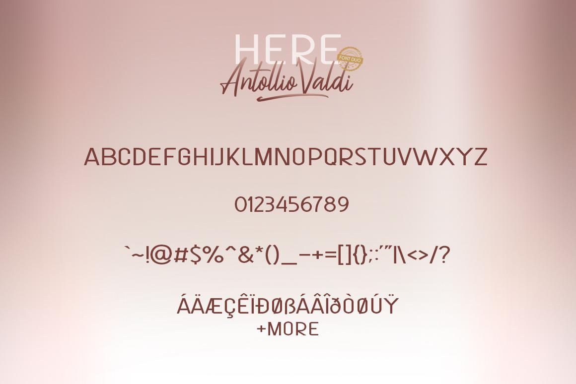 Here Antollio Valdi Font Duo example image 8