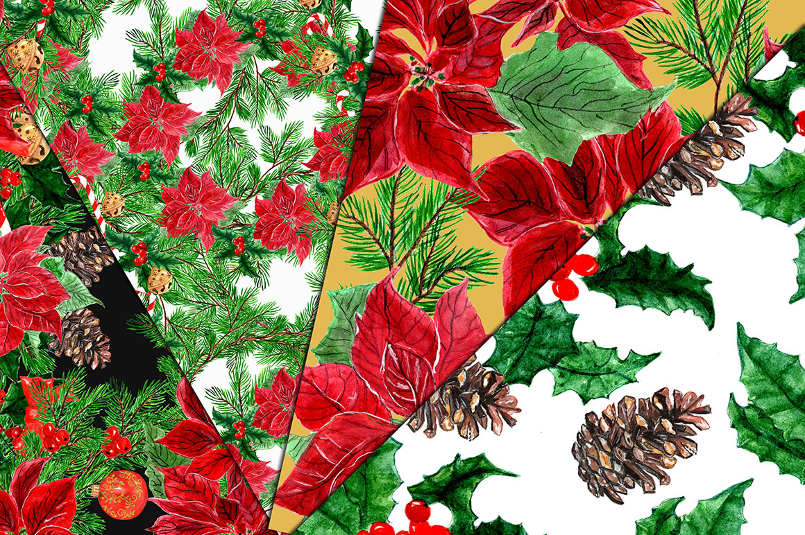 Christmas Wreaths Clip Art example image 2