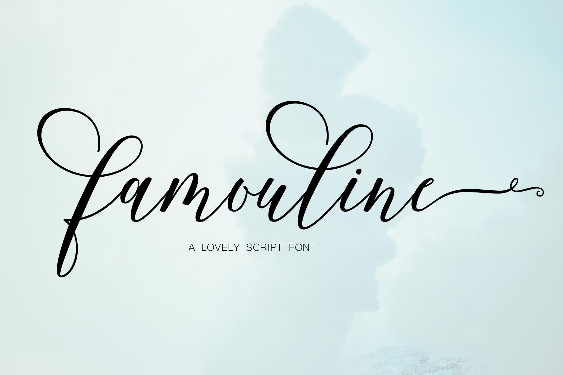 Famouline Script example image 10