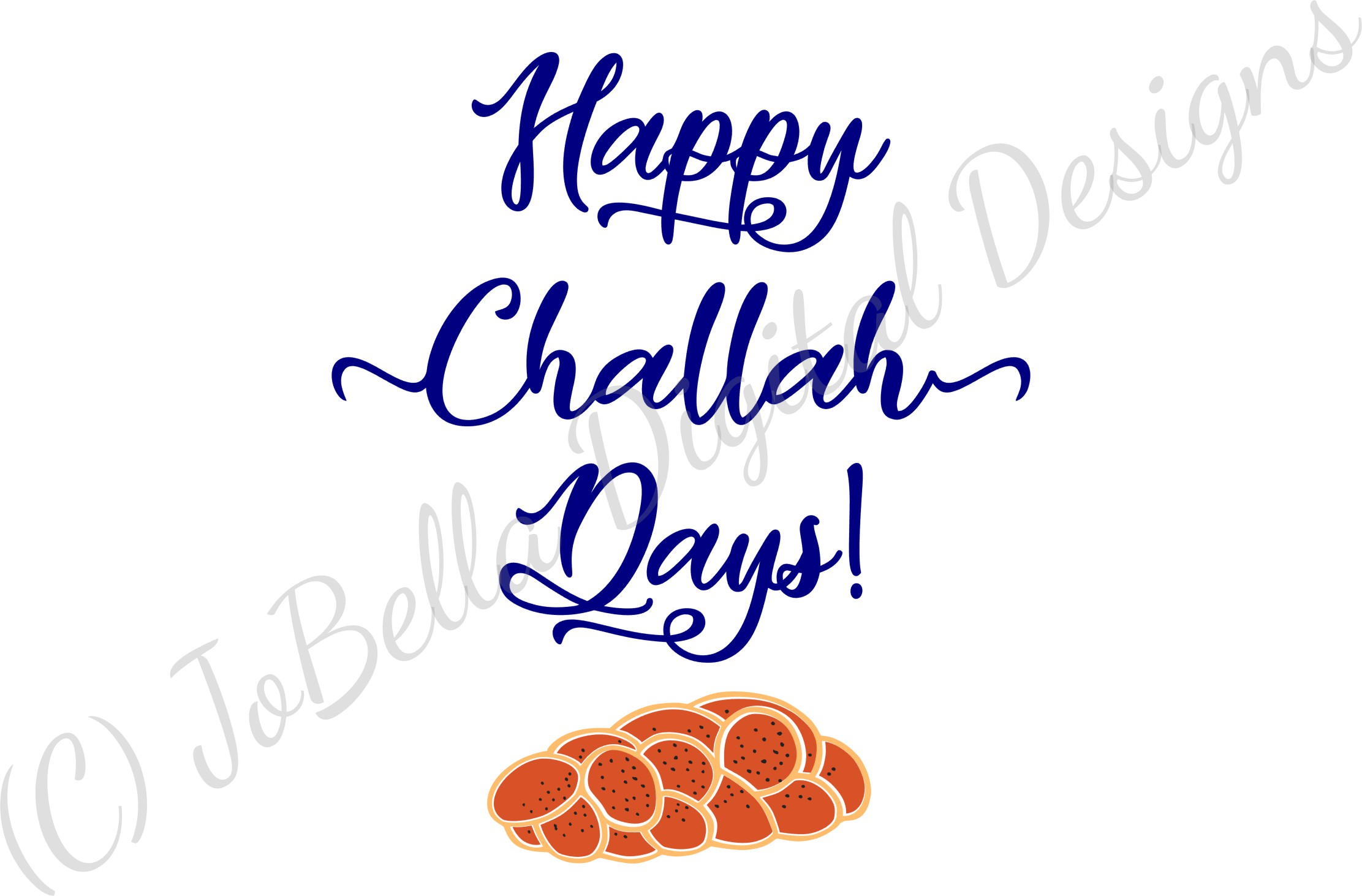Challah Happy Hanukkah SVG, Printable and Sublimation PNG example image 5