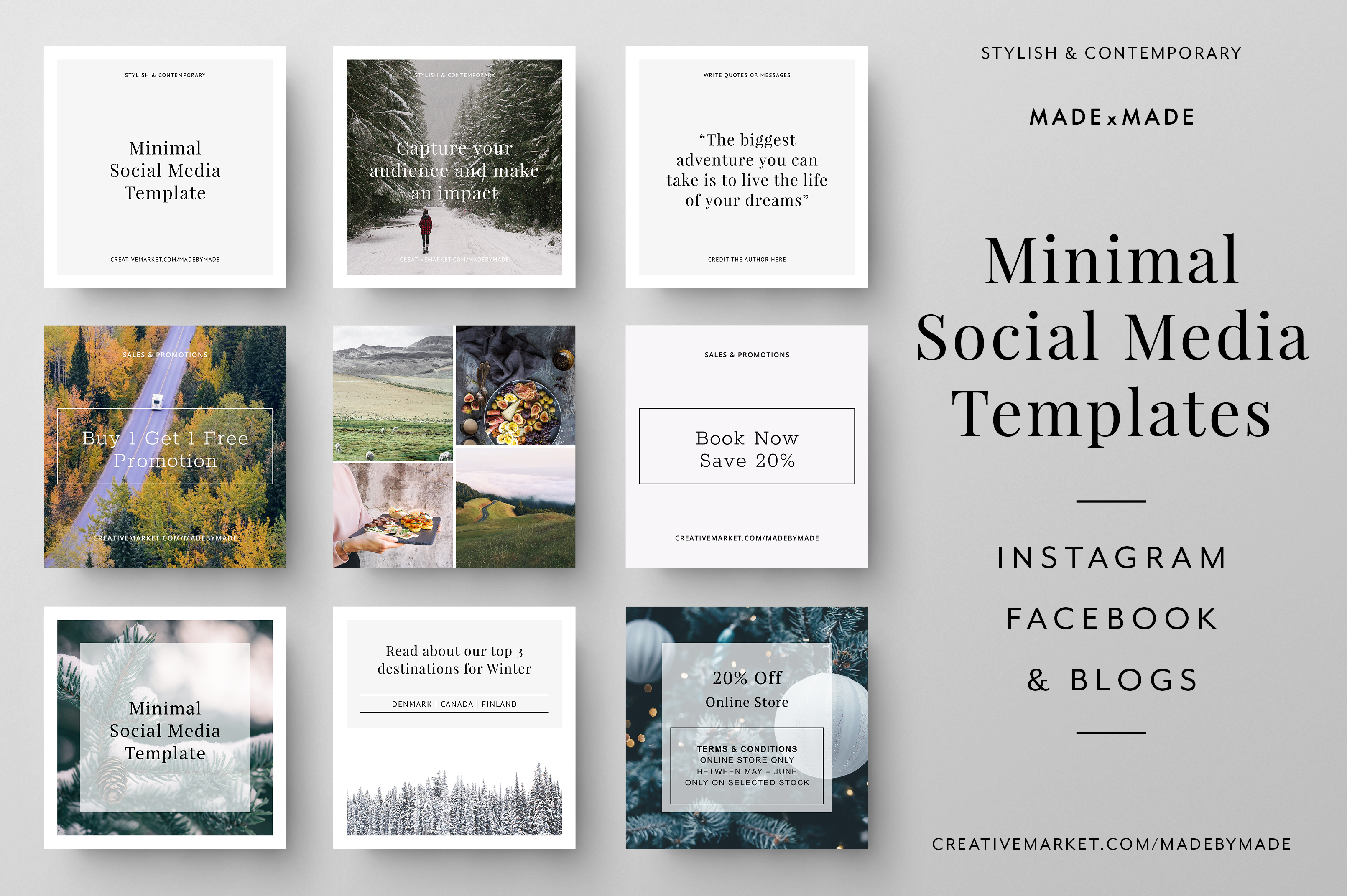 Minimal Social Media Templates example image 1