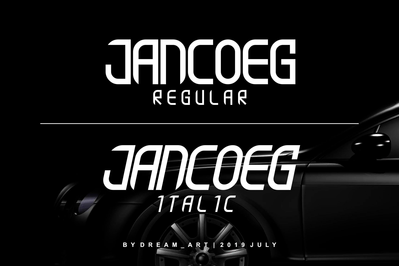JANCOEG - BOLD FONT example image 6