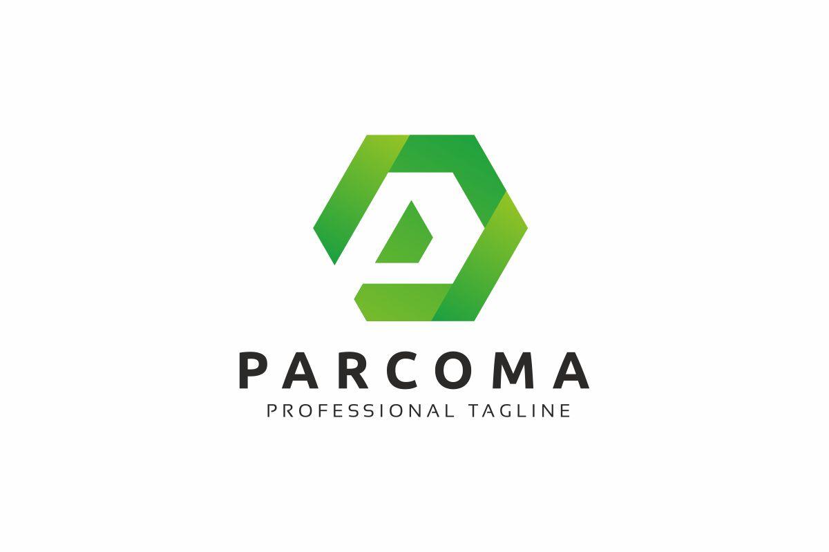 Parcoma P Lettre Logo example image 1