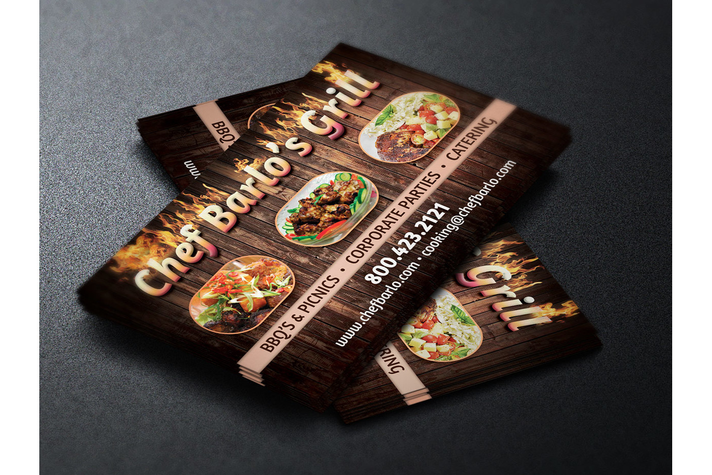 Chef Business Card Template example image 1