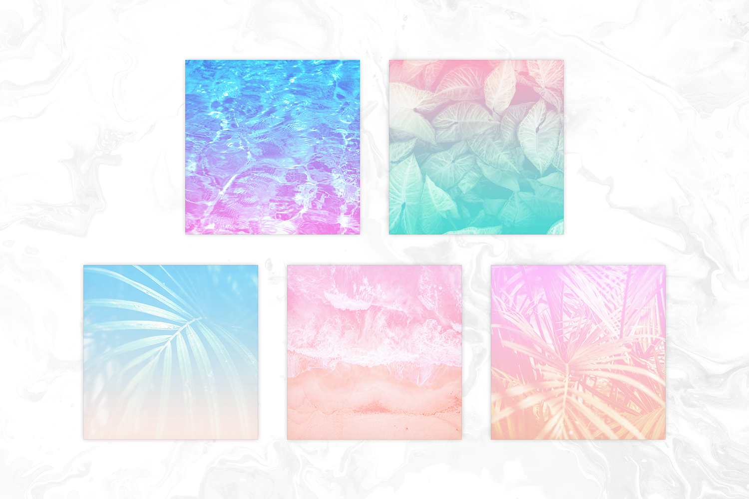 Pastel Ombre Tropical Photos Digital Paper example image 2
