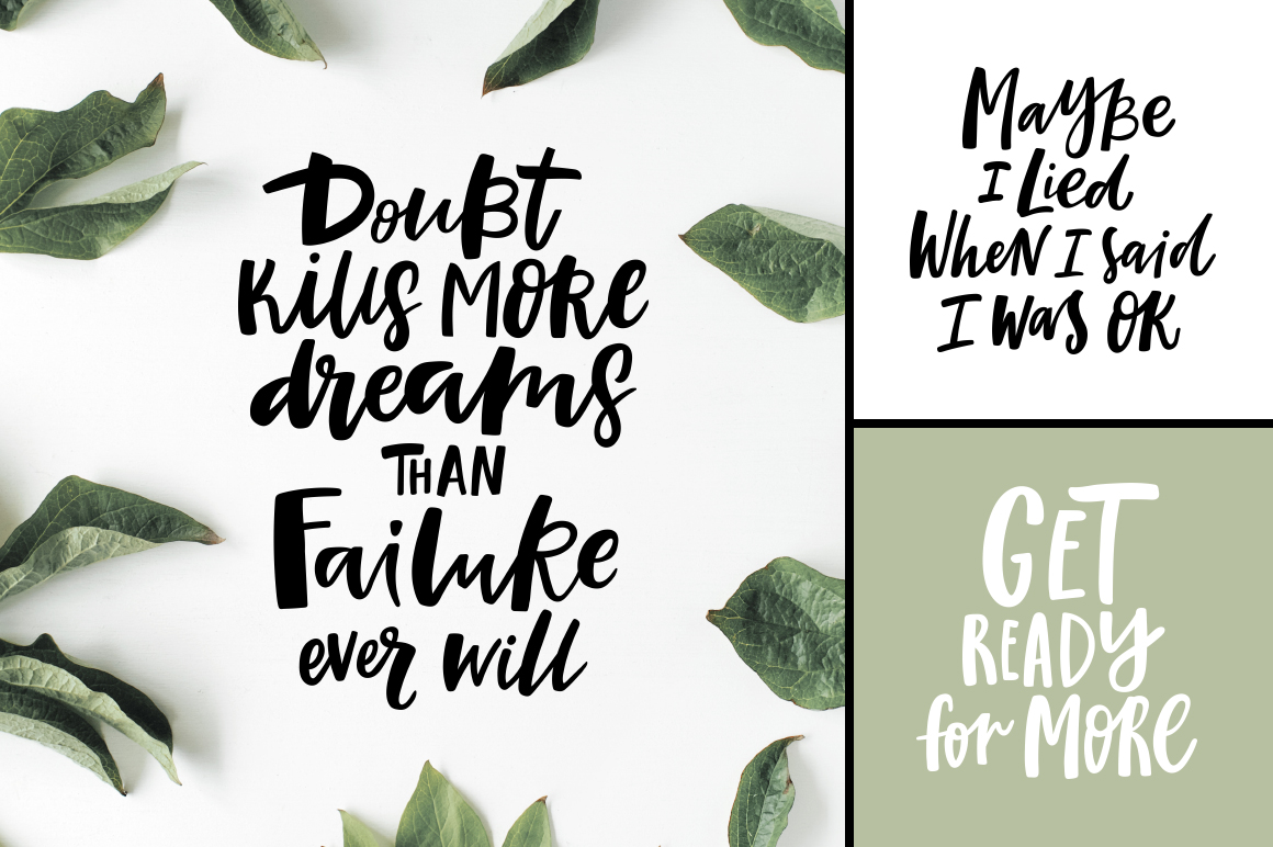 32 Hand-lettered quotes example image 3