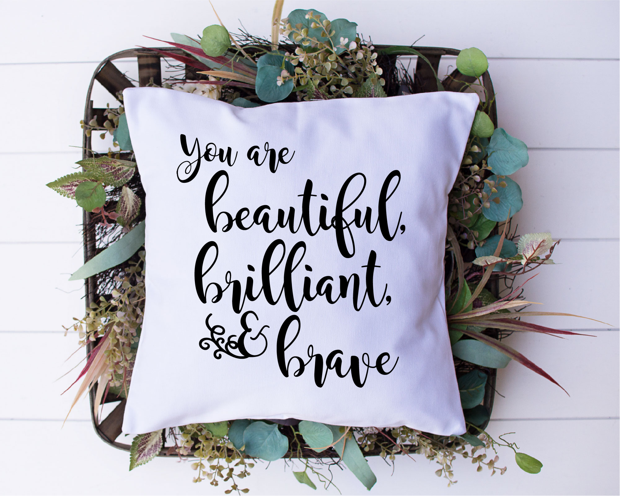 You Are Beautiful Brilliant And Brave SVG, Sublimation, PNG example image 2